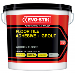 Floor tile adhesive and grout for wooden floors